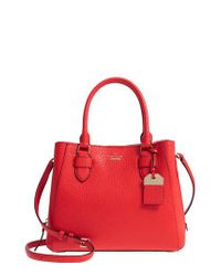 Kate Spade - Red Carter Street - Aliana Leather Satchel - Lyst
