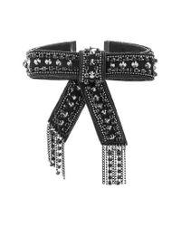Steve Madden | Black Curb Chain Tassel Choker | Lyst