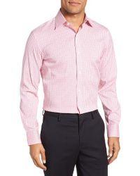 Bonobos Pink Jetsetter Slim Fit Stretch Check Dress Shirt for men