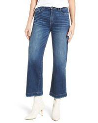 PAIGE - Blue Nellie High Waist Culotte Jeans - Lyst