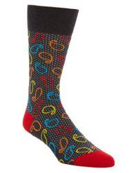 Bugatchi | Blue Paisley Socks for Men | Lyst
