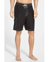 Tommy Bahama | Black 'baja Poolside' Board Shorts for Men | Lyst