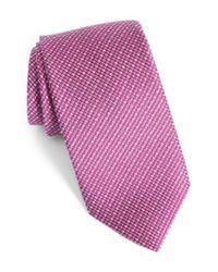 David Donahue | Multicolor Solid Silk Tie for Men | Lyst
