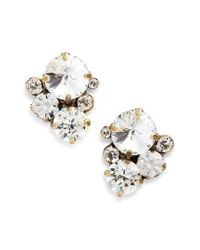 Sorrelli - Metallic Crystal Earrings - Lyst