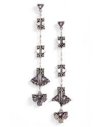 Treasure & Bond | Black Linear Drop Earrings | Lyst
