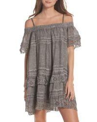 Muche Et Muchette - Gray Esmerelda Cover-up Dress - Lyst