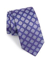 Eton of Sweden - Blue Medallion Silk Tie for Men - Lyst