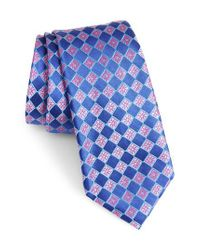 Nordstrom - Blue Floral Squares Silk Tie for Men - Lyst