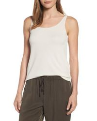 Eileen Fisher | White Long Scoop Neck Camisole | Lyst
