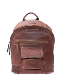 Will Leather Goods | Brown 'silas' Backpack - Metallic for Men | Lyst
