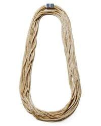 Lafayette 148 New York - Metallic Mesh Chain Multistrand Necklace - Lyst