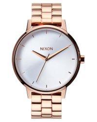 Nixon - Pink 'the Kensington' Bracelet Watch - Lyst