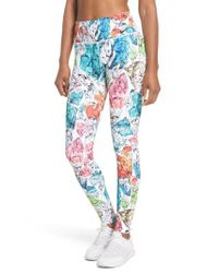 Nike - Multicolor Power Women's Printed Mid Rise Training Tights - Lyst