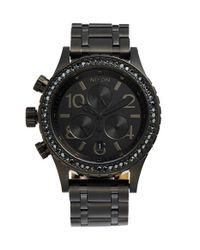 Nixon | Black 'the 38-20' Crystal Bezel Chronograph Bracelet Watch | Lyst