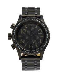 Nixon - Black 'the 38-20' Crystal Bezel Chronograph Bracelet Watch - Lyst