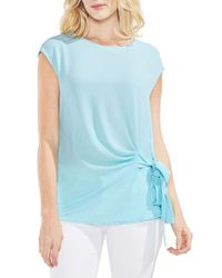 Vince Camuto - Blue Tie Front Blouse - Lyst