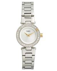 Timex | Metallic Timex 'starlight' Crystal Bezel Bracelet Watch | Lyst