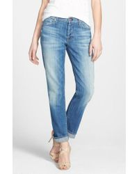 7 For All Mankind - Blue 7 For All Mankind 'josefina' Boyfriend Jeans - Lyst