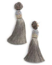 Nakamol - Gray Tassel Earrings - Lyst