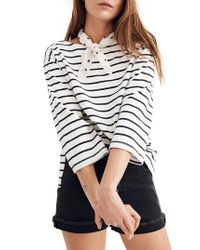Madewell - Multicolor Stripe Boat Neck Top - Lyst