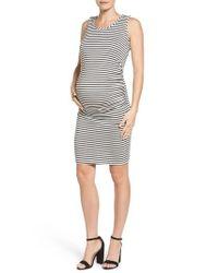 Lab40 - Black Maternity/nursing Tank Dress - Lyst