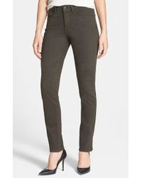 NYDJ | Green Sheri Colored Stretch Skinny Jeans | Lyst