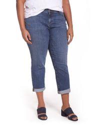 Eileen Fisher | Blue Stretch Organic Cotton Boyfriend Jeans | Lyst