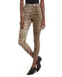 TOPSHOP - Multicolor Joni Leopard Jeans - Lyst