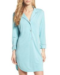 Natori - Blue Shangri-la Sleep Shirt - Lyst