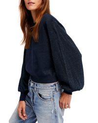 Free People   Blue Let It Shine Sweater   Lyst