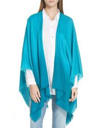 Eileen Fisher - Blue Ombre Poncho Wrap - Lyst