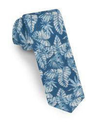 Ted Baker - Blue Palm Leaf Silk Tie for Men - Lyst