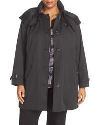 London Fog - Black Single Breasted Trench Coat - Lyst