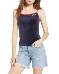 Fila - Blue Rose Velour Tank Top - Lyst