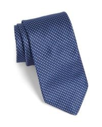 Ted Baker | Blue Solid Silk Tie for Men | Lyst