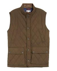 Peter Millar - Multicolor Keswick Waxed Cotton Quilted Vest for Men - Lyst