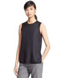 Rag & Bone Black 'maude' Silk Tank