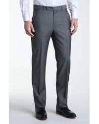 Z Zegna | Gray Flat Front Trousers for Men | Lyst