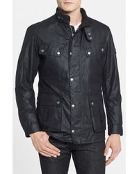 Barbour | Black 'duke' Regular Fit Waterproof Waxed Cotton Jacket for Men | Lyst