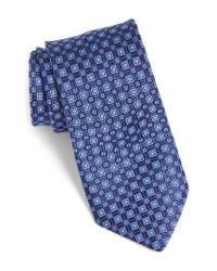 Ted Baker   Blue Solid Silk Tie for Men   Lyst