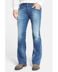 DIESEL | Blue Diesel Zathan Bootcut Jeans for Men | Lyst