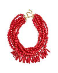 BaubleBar | Red Malibu Beaded Necklace | Lyst
