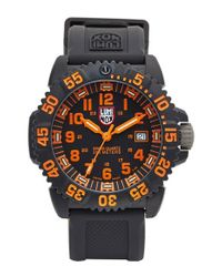 Luminox | Black 'sea - Navy Seal Colormark' Silicone Strap Watch for Men | Lyst