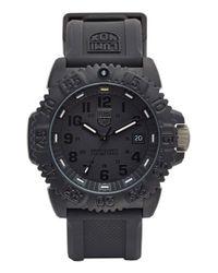 Luminox   Black 'sea - Navy Seal Colormark' Silicone Strap Watch for Men   Lyst