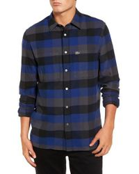 Lacoste | Blue Check Flannel Shirt for Men | Lyst