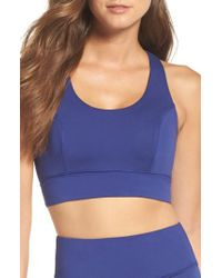 Free People | Blue Fp Movement Synergy Bra | Lyst