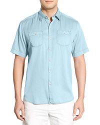 Tommy Bahama | Blue 'new Twilly' Island Modern Fit Short Sleeve Twill Shirt for Men | Lyst