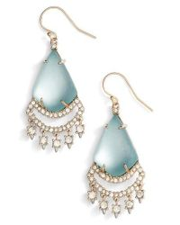 Alexis Bittar - Blue Crystal Lace Lucite Chandelier Earrings - Lyst