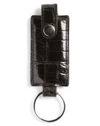 Boconi - Black Alligator Key Fob for Men - Lyst
