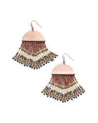 Nakamol - Multicolor Fringe Drop Earrings - Lyst